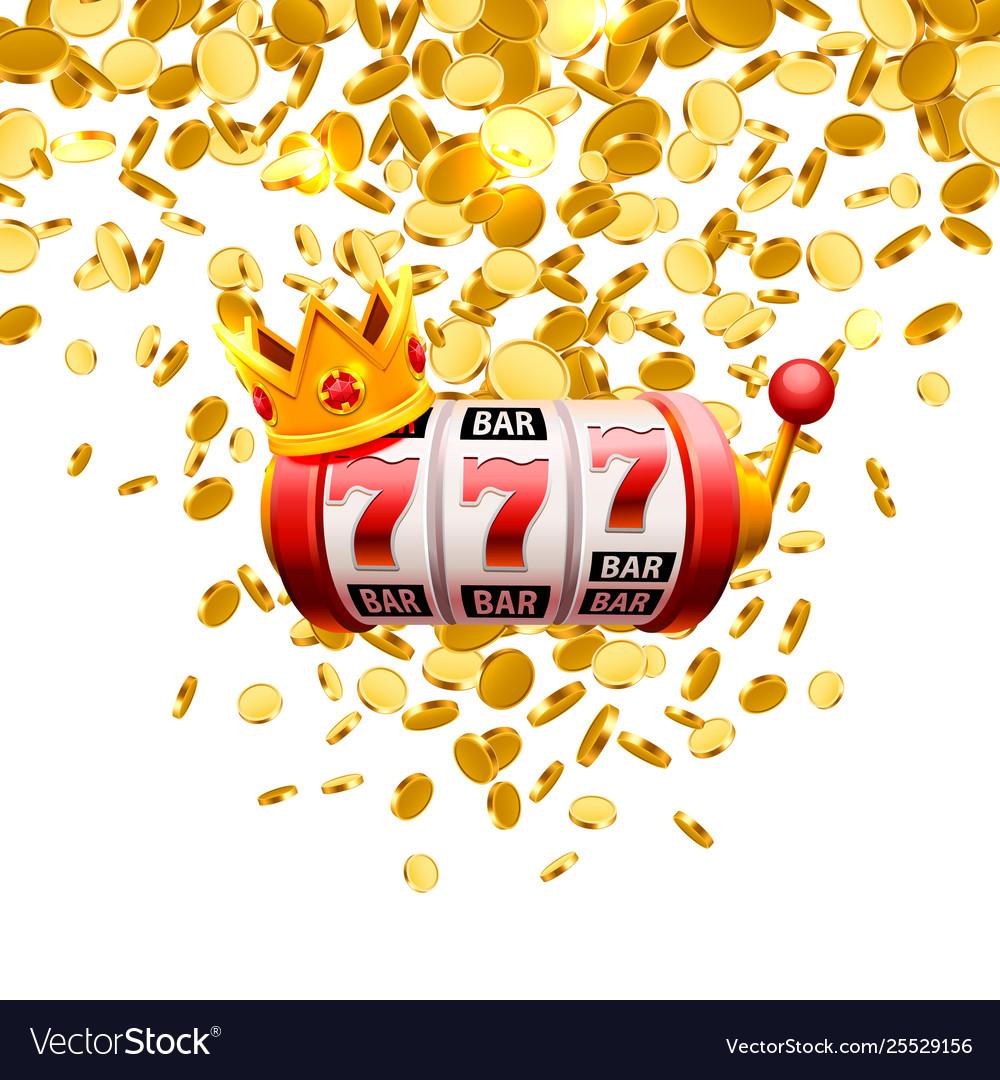 King slots 777 banner casino on white