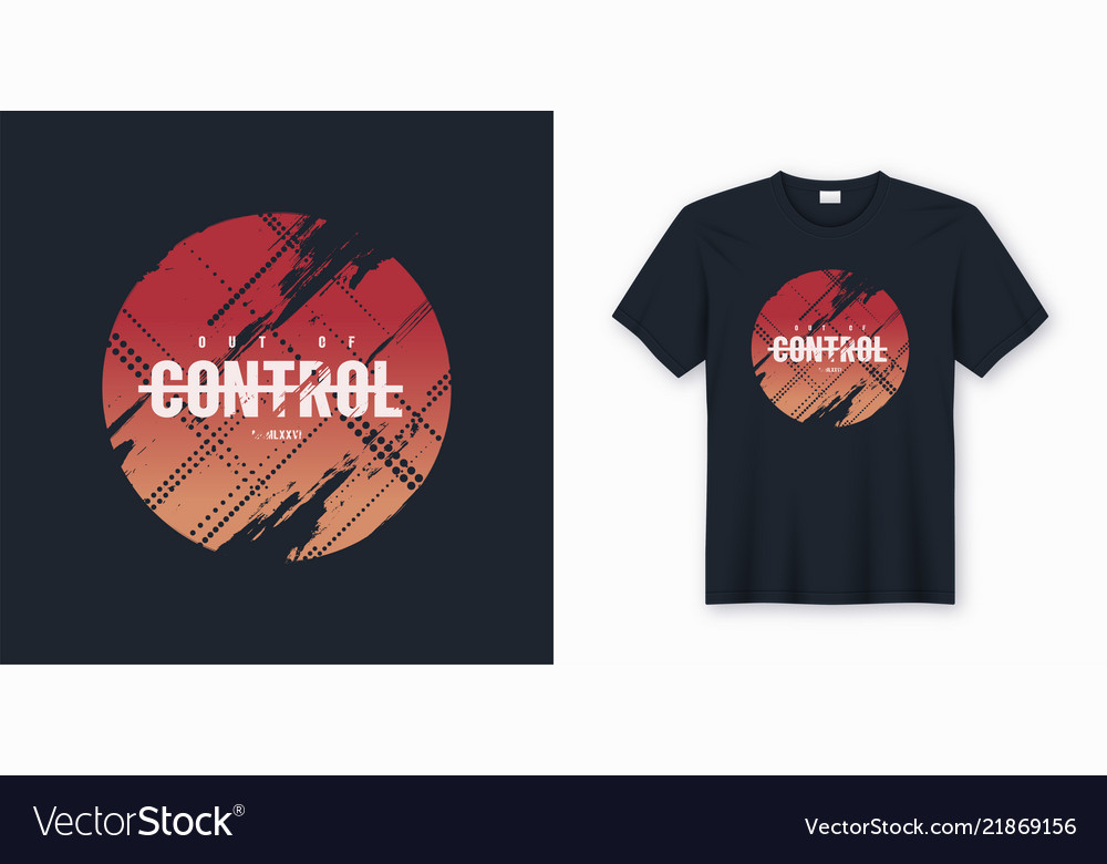 Out of control stylish abstract t-shirt and