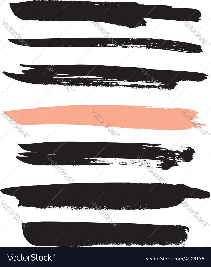 Set of brushes for design