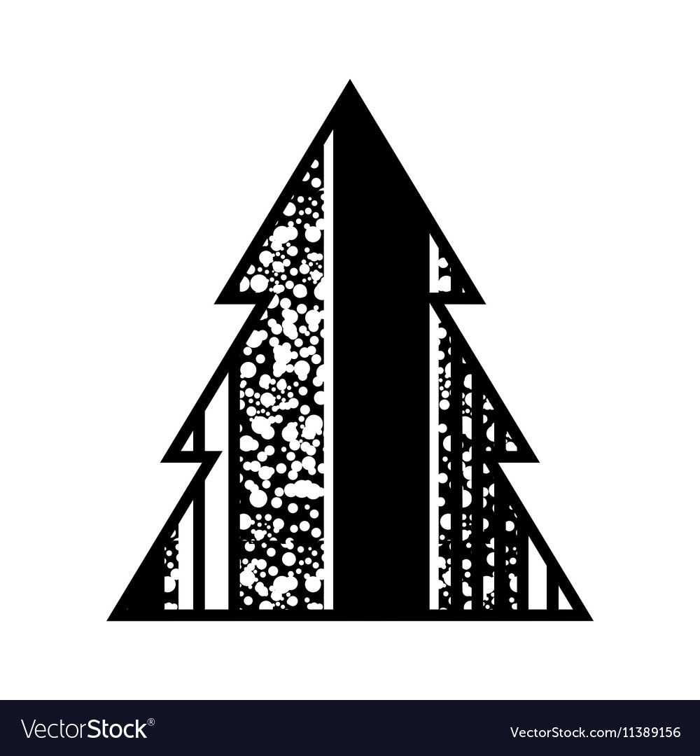 Simple Black Christmas Tree Icon