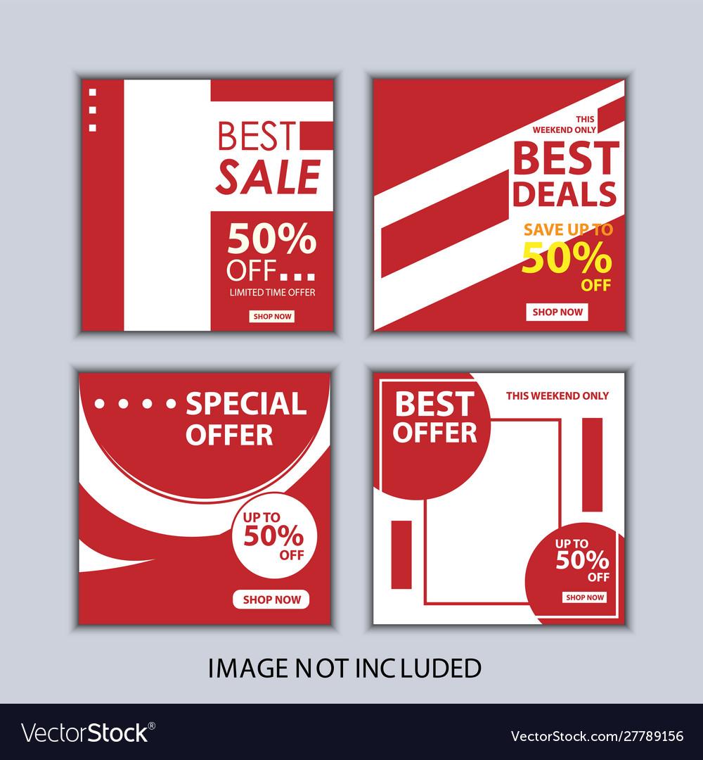 Social media post fashion sale banner
