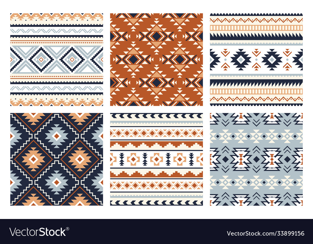 Tribal indian seamless pattern color mexican