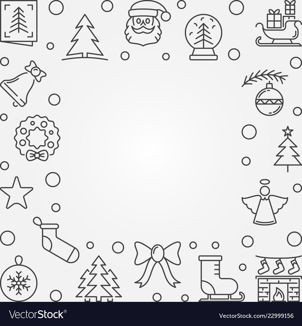 Xmas outline background with empty space