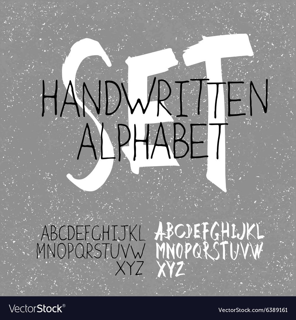 Alphabet set handwritten