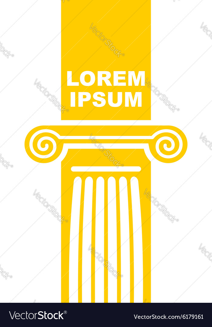 Architectural logo Element of Greek columns