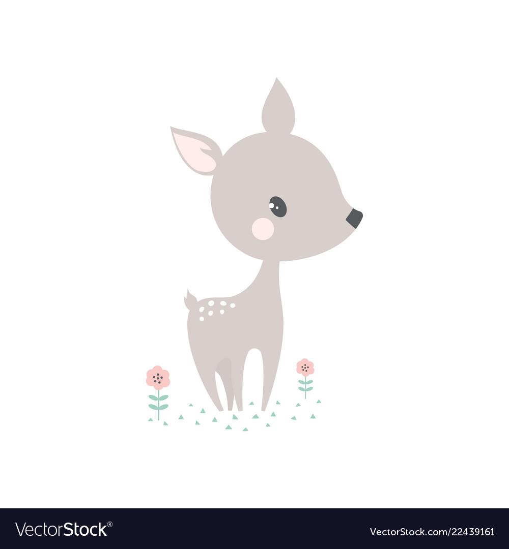 Cartoon deer card
