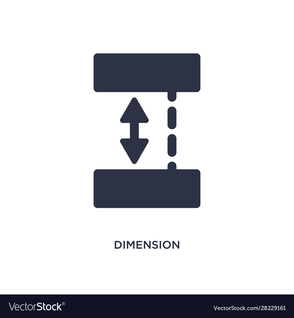Dimension icon on white background simple element