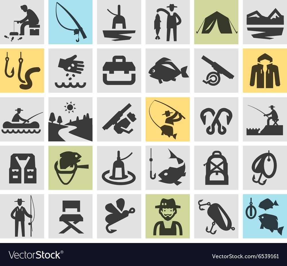 Fishing angling logo design template
