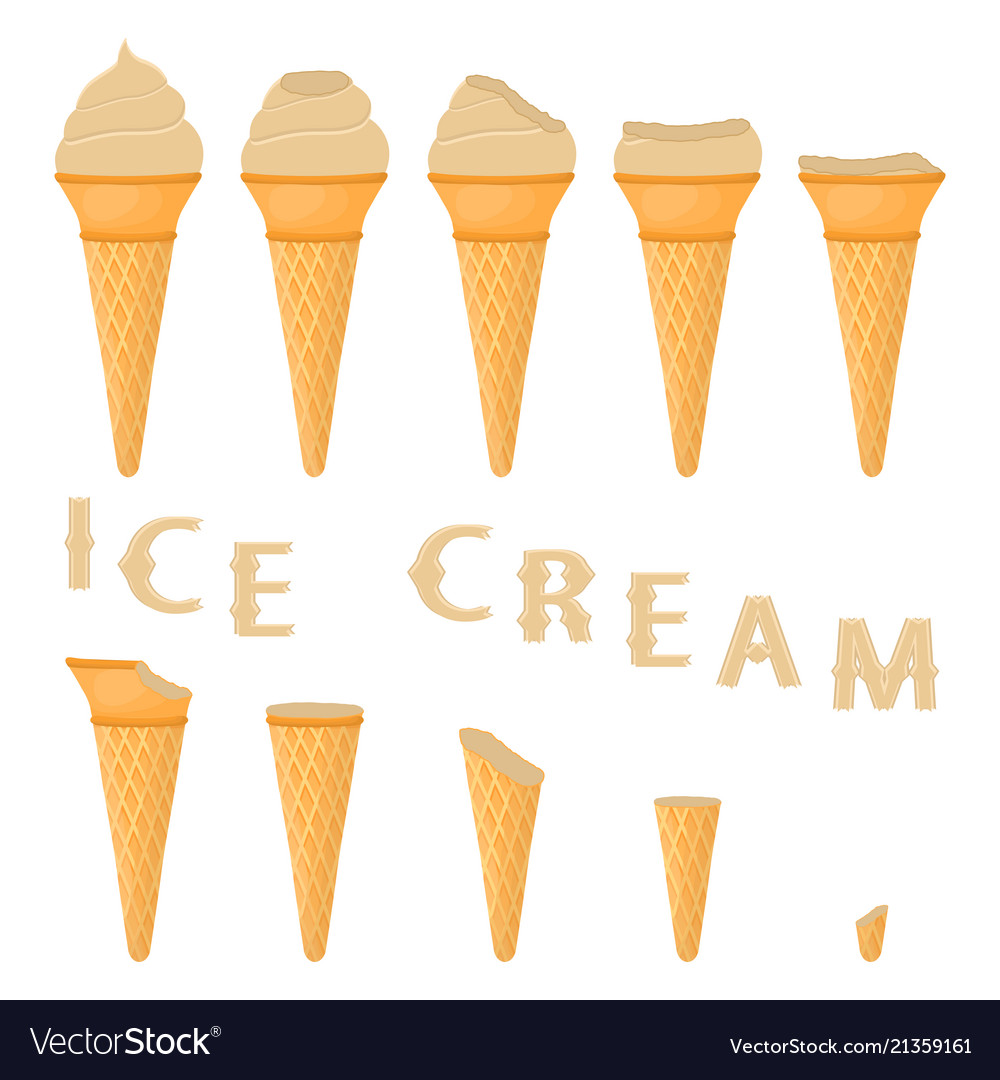 for natural ice cream royalty free vector image