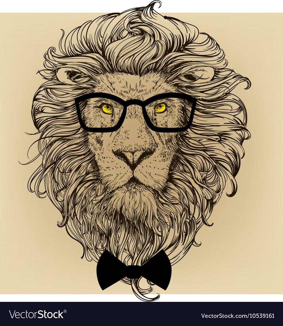 Lion character portrait