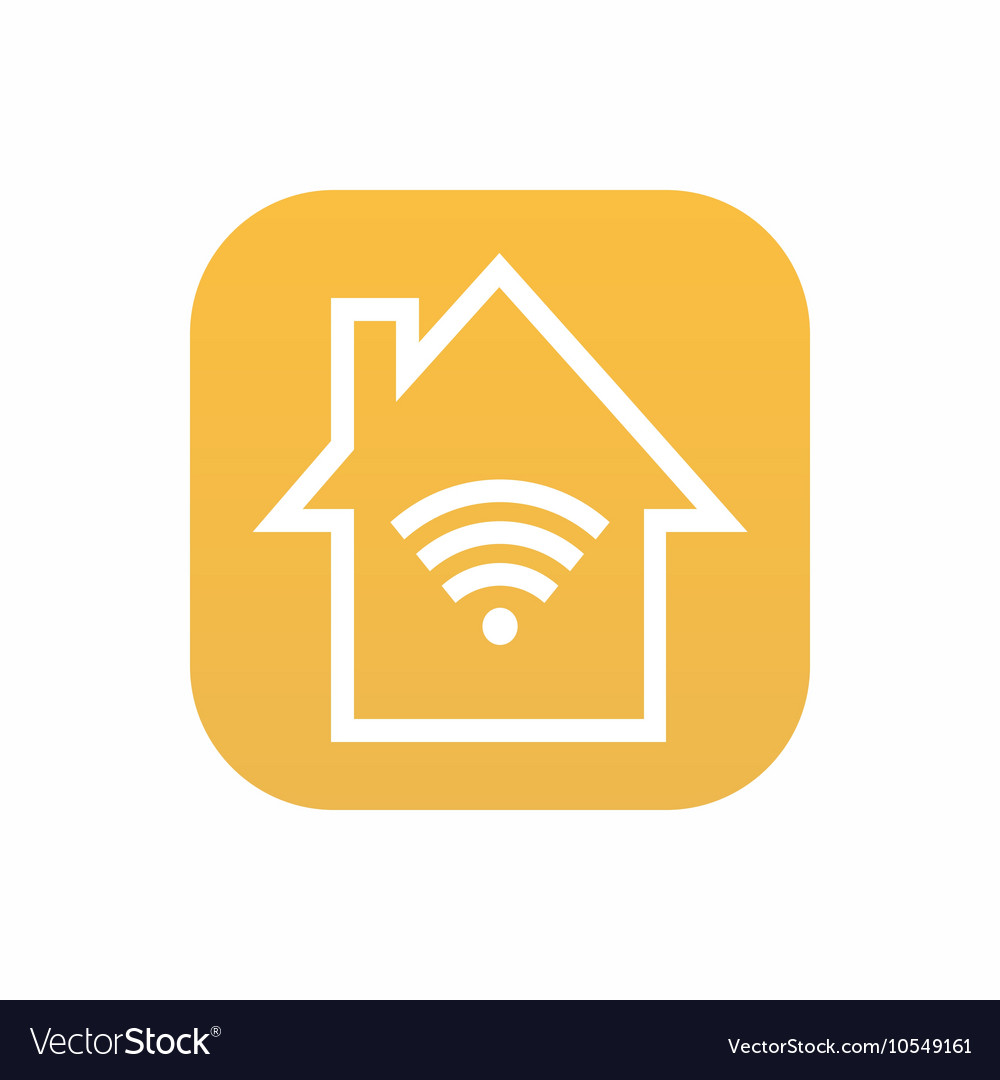 Modern smart house icon on white background