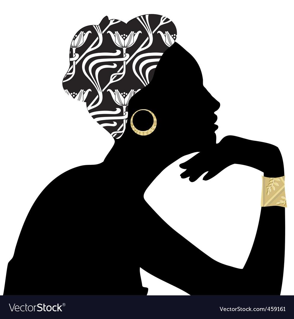 Woman beautiful portrait silhouette