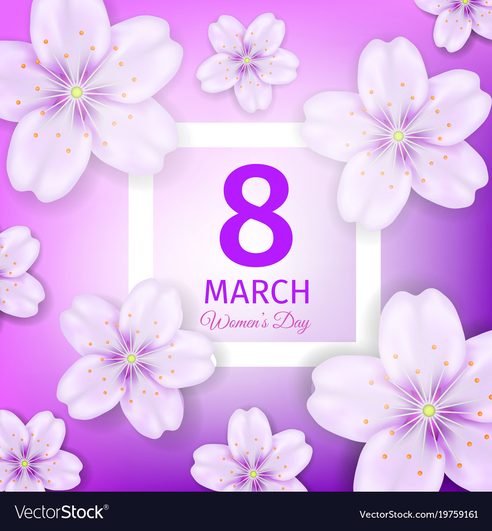 Womens Day Greeting Card Royalty Free Vector Image
