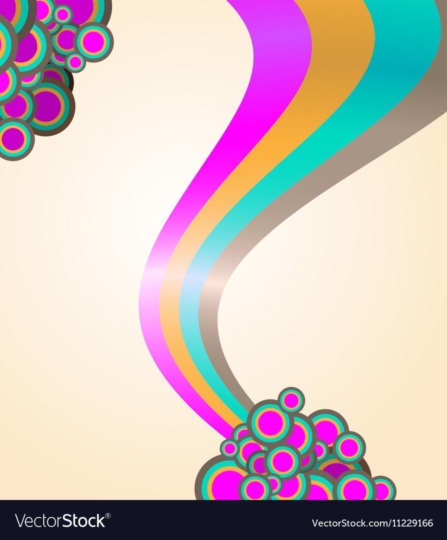 105abstract ribbon and circles background
