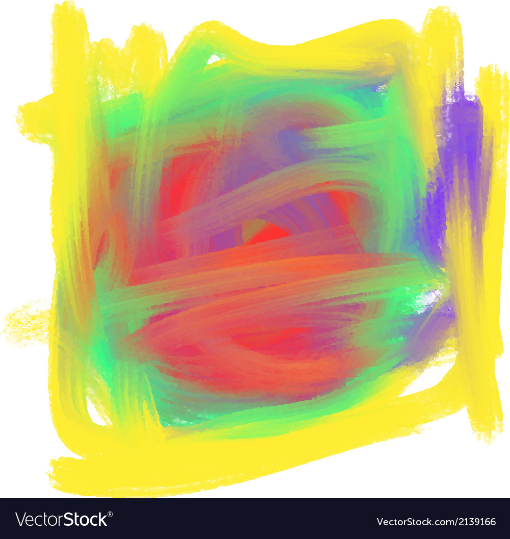 Abstract colorful Oil Paint Mark vector image