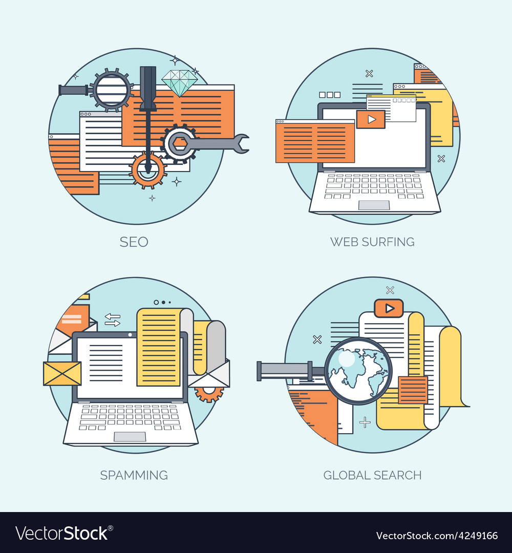 Flat avatar icons Business concept global