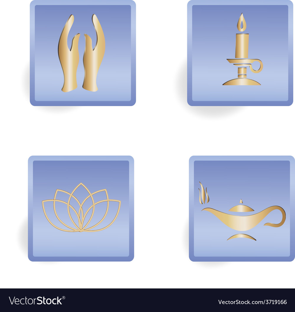 Grey paper magic candle vector image on VectorStock
