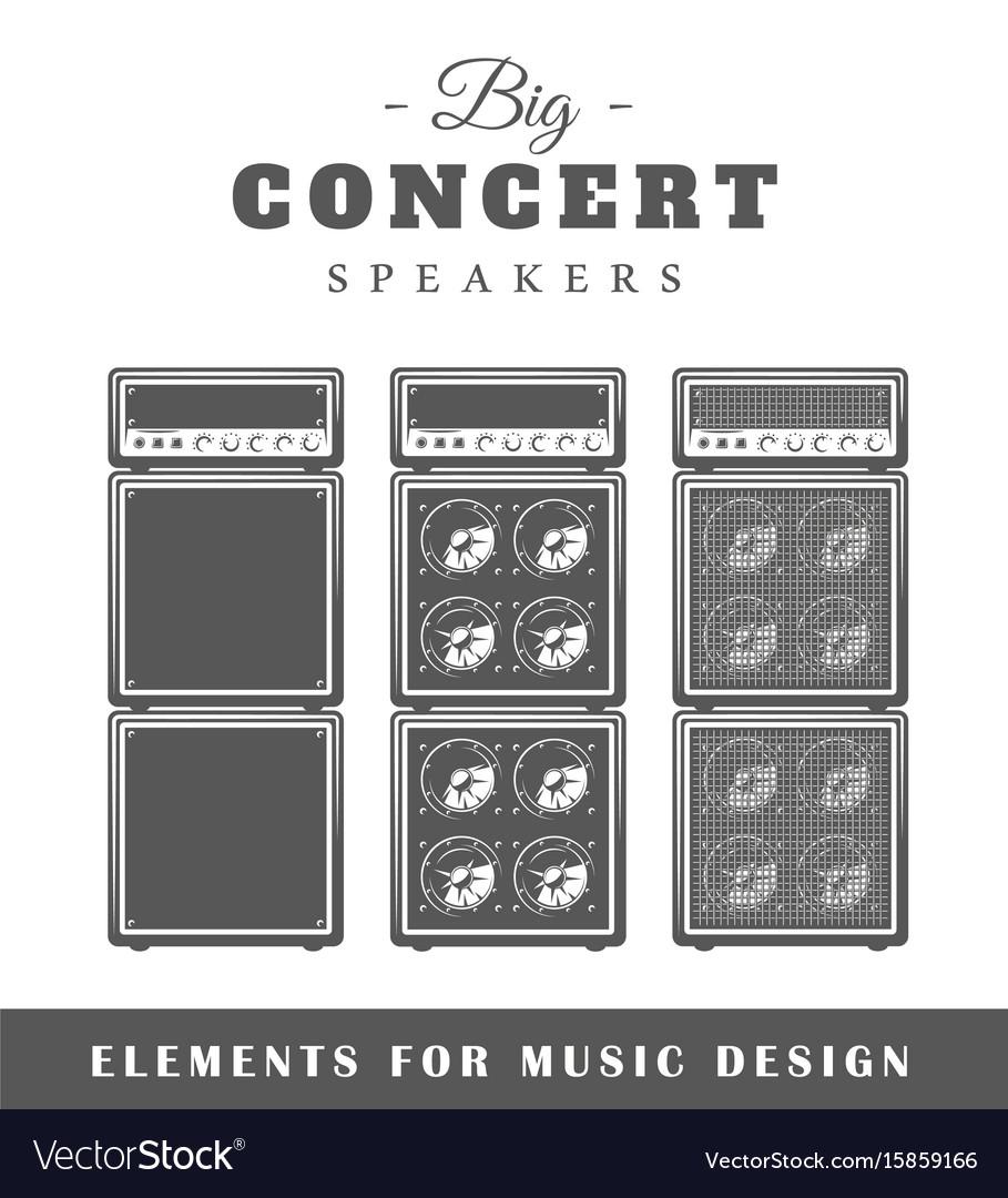 Professional live music speaker vector image