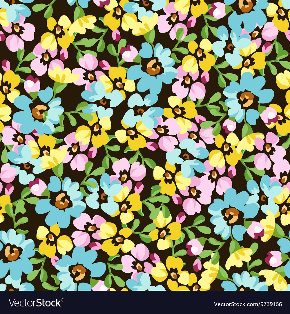 Seamless pattern with small blue flowers forget