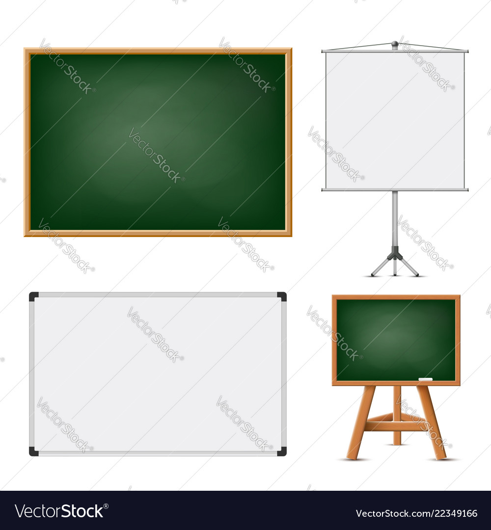 Set of blank boards for education