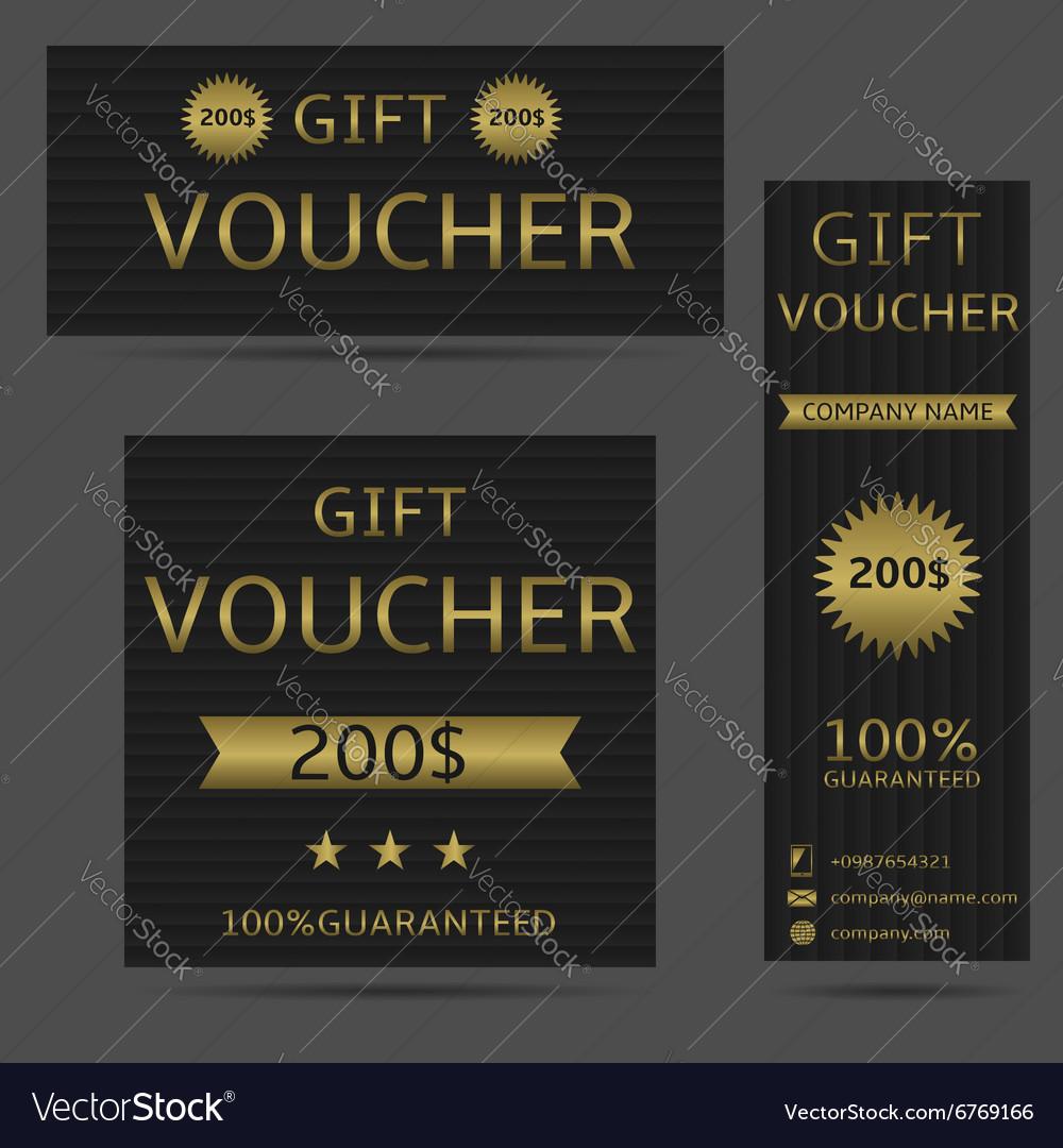 Voucher card set vector image