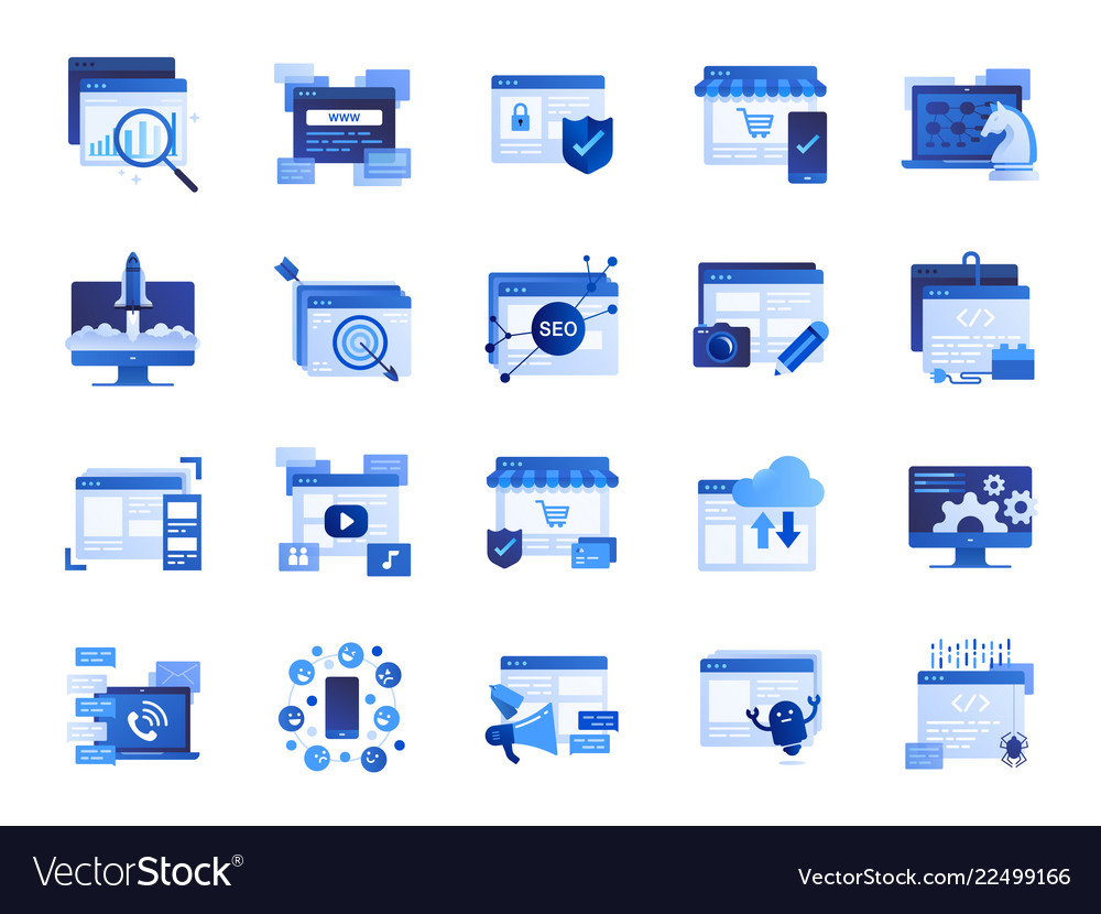 Web and marketing icon set