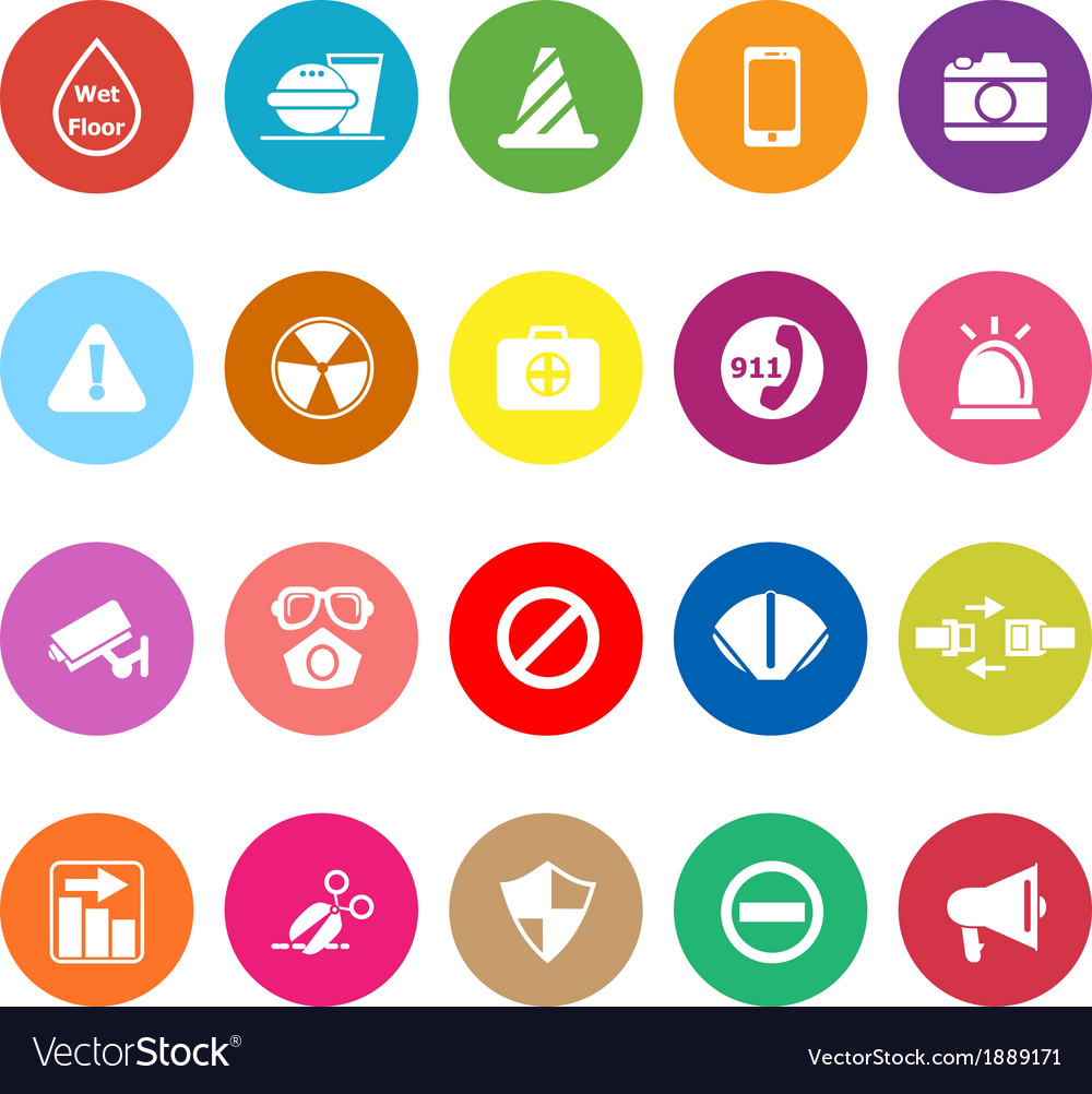 General useful flat icons on white background