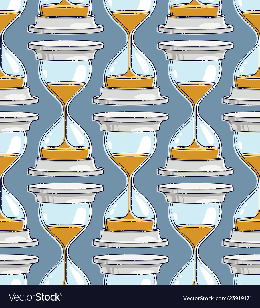 Hourglasses seamless background backdrop for