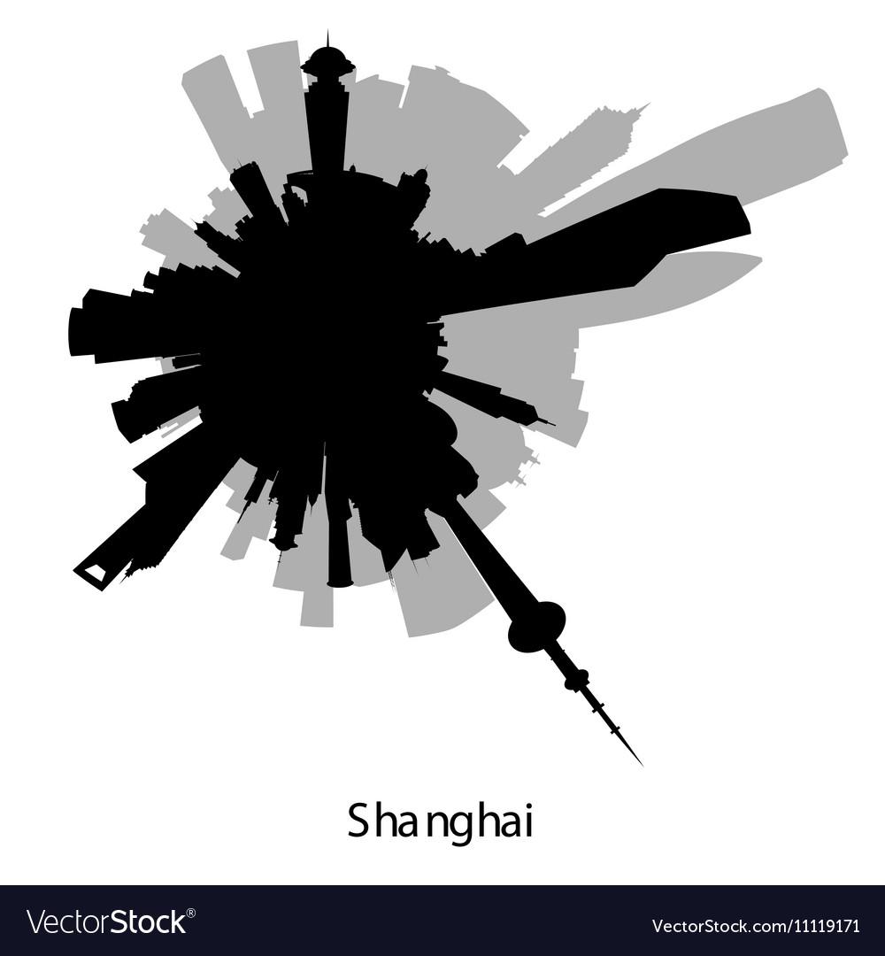 Shanghai circular skyline