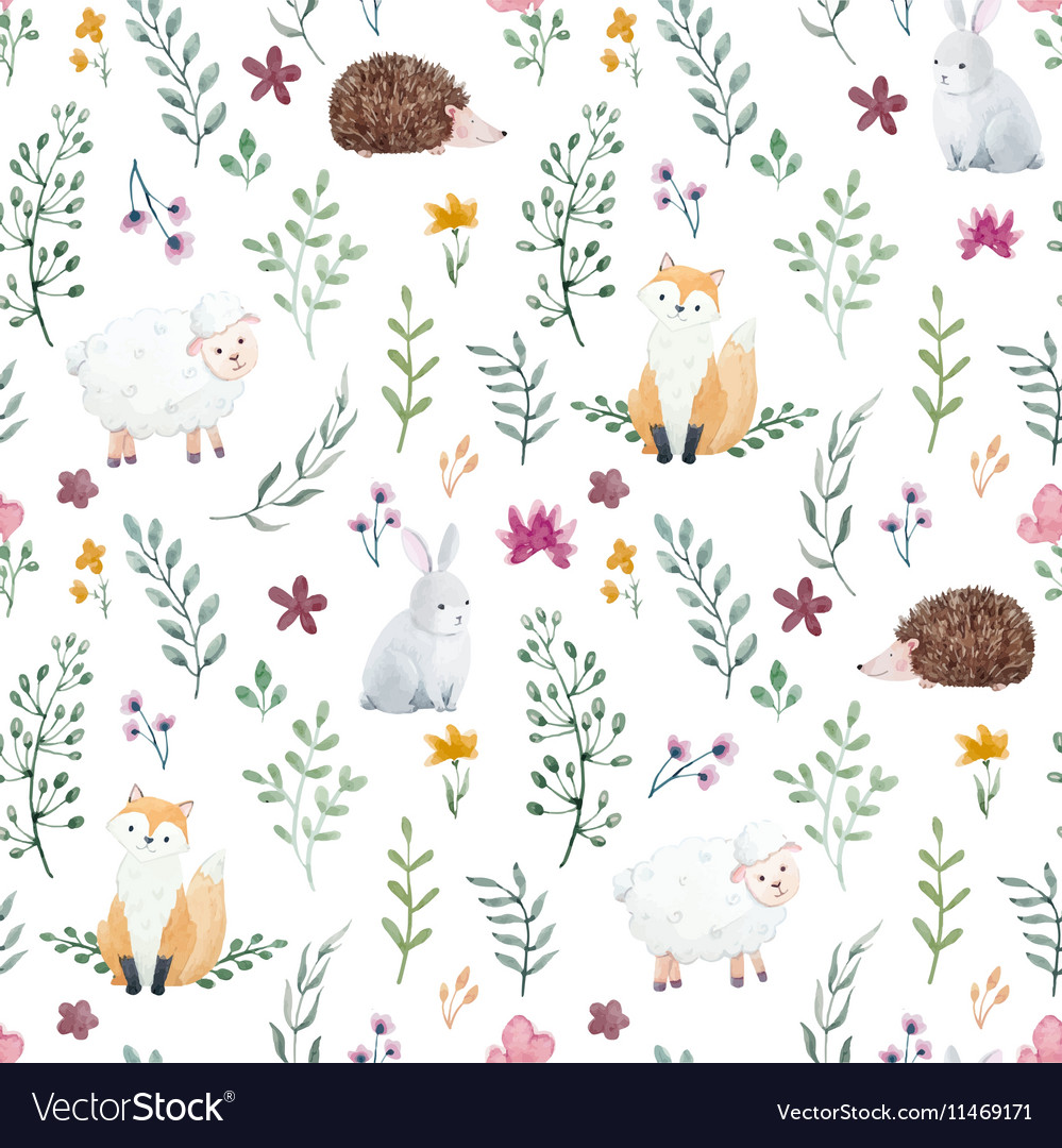 Watercolor pattern for children