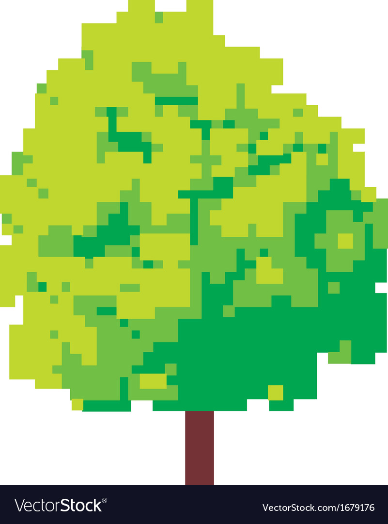 Abstract tree - pixel tree vector image