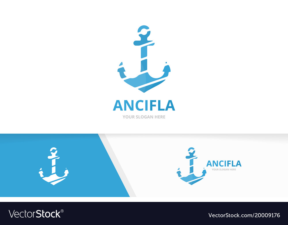 Anchor logo combination marine and