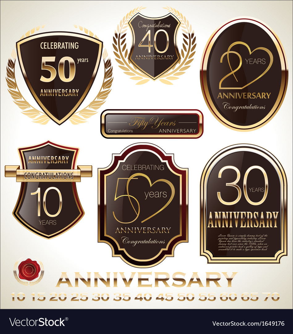 Anniversary brown label set
