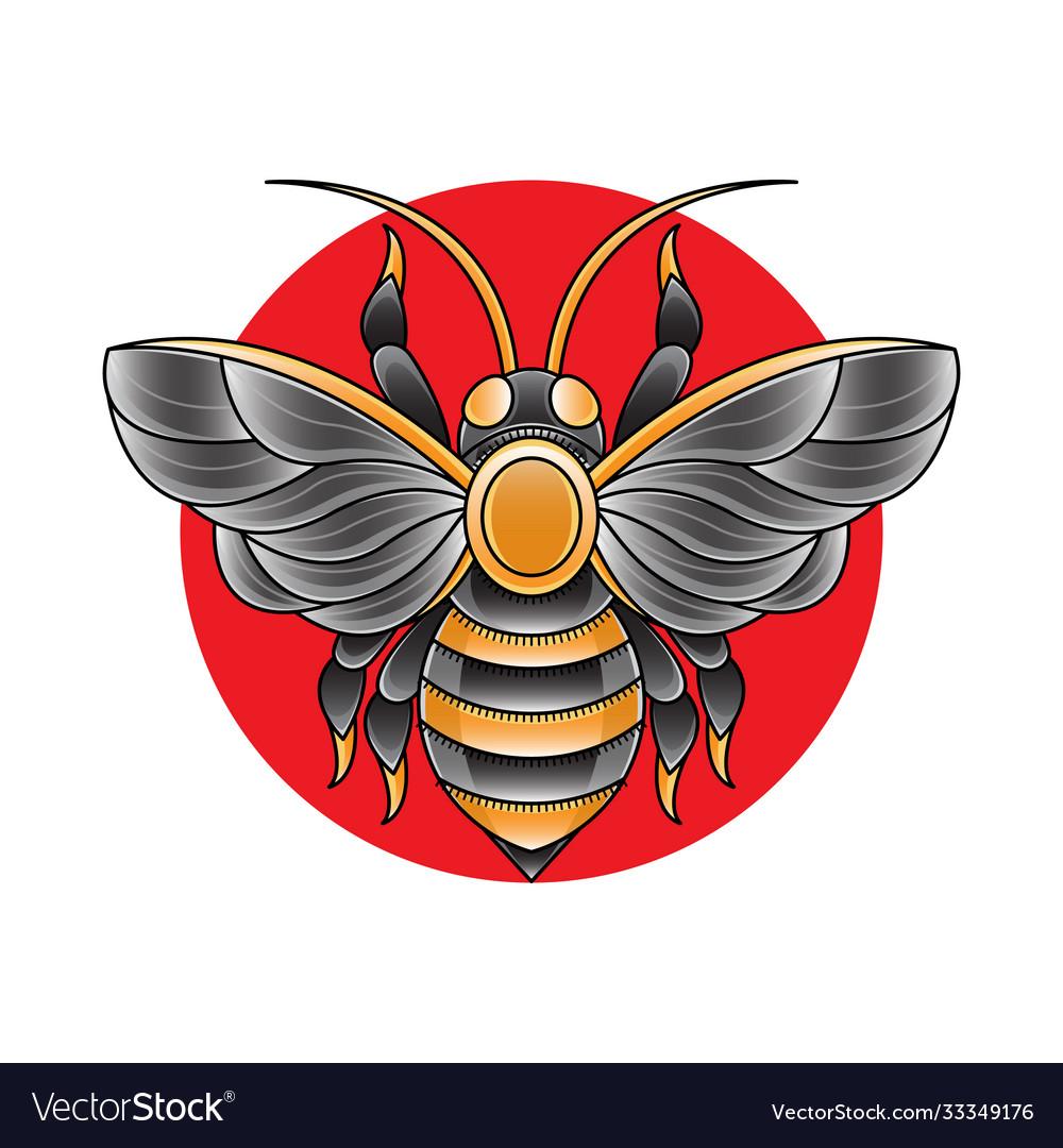 Bee tattoo design