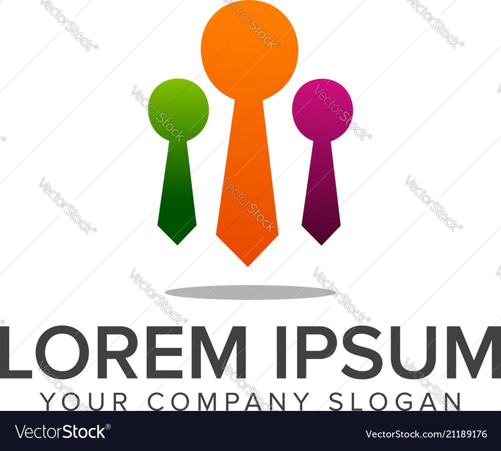 Businessman team logo leadership logo design