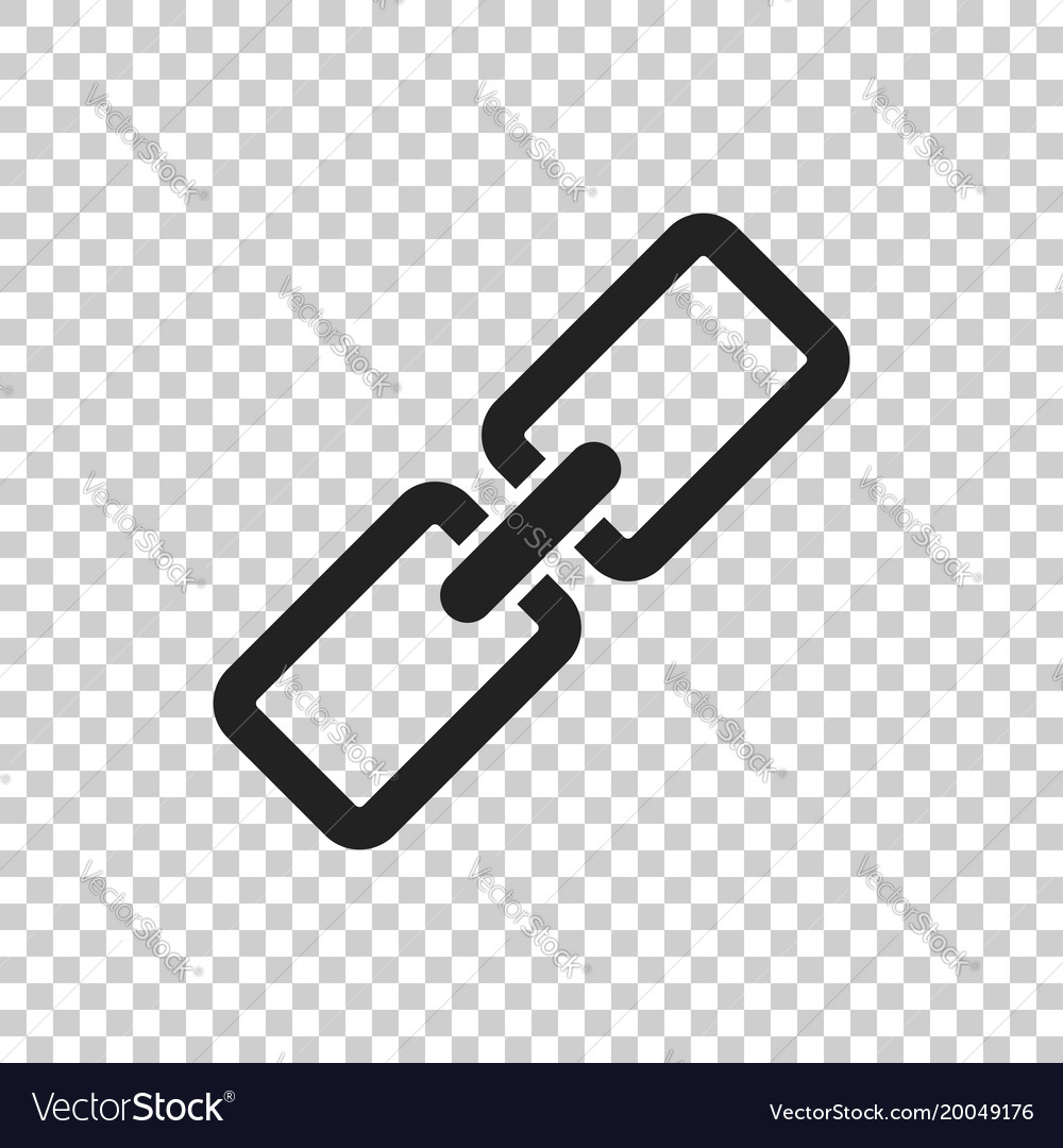 Chain icon in flat style on isolated background