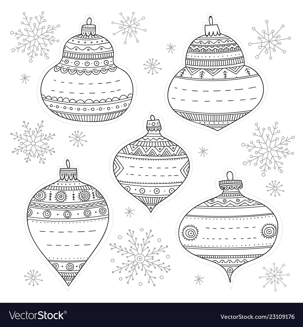 Christmas baubles gift tags
