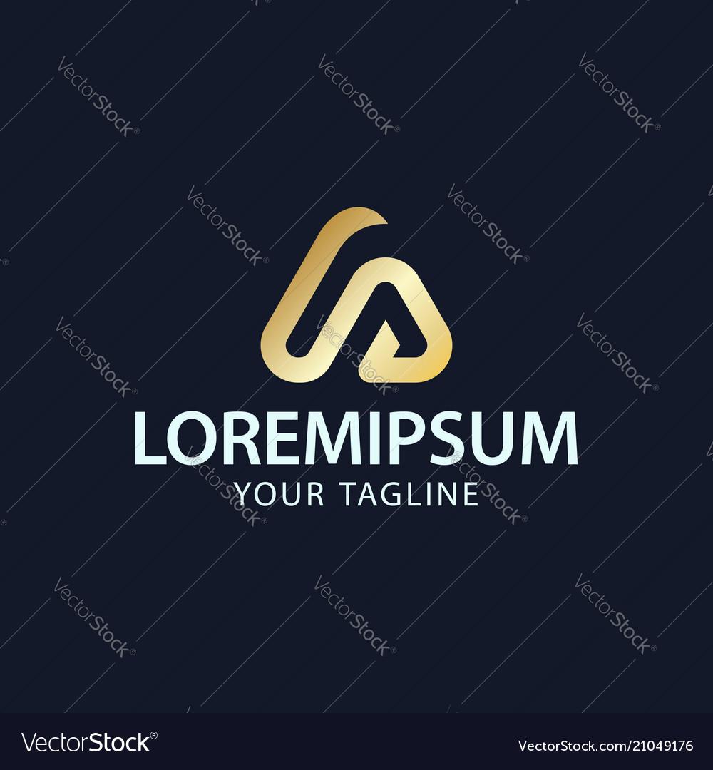 Creative letter a or s logo concept design