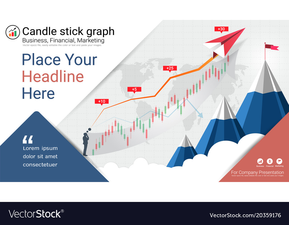 Financial and candlestick graph charts