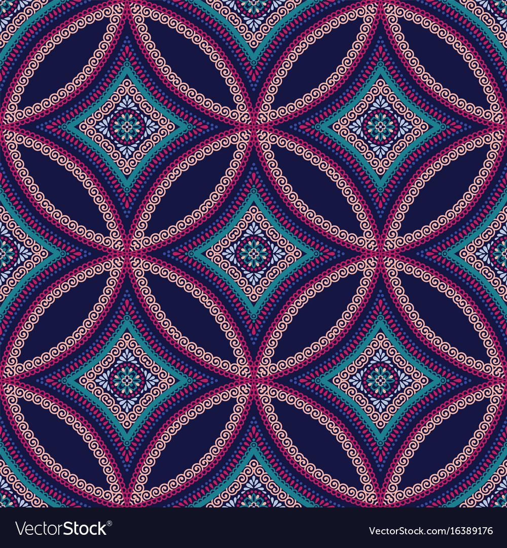 Intricate mandala pattern tile background