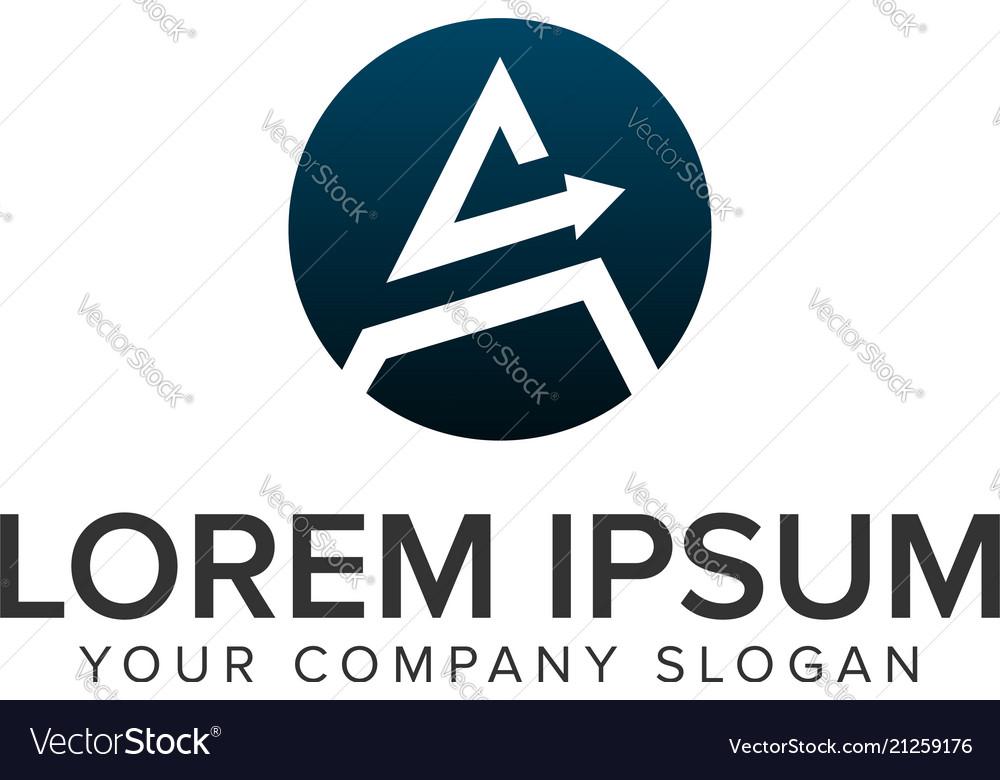 Letter a arrow logo