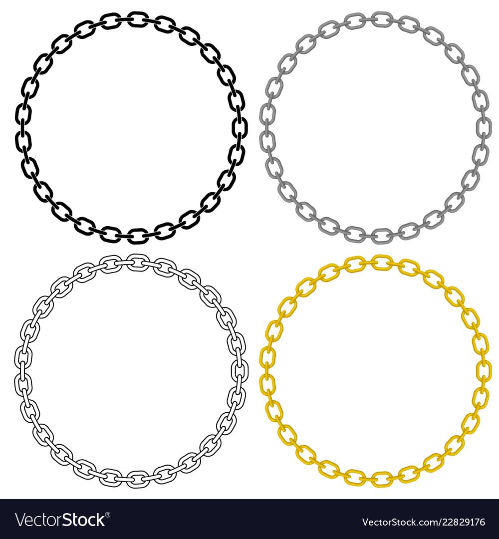 Metal chain link circle