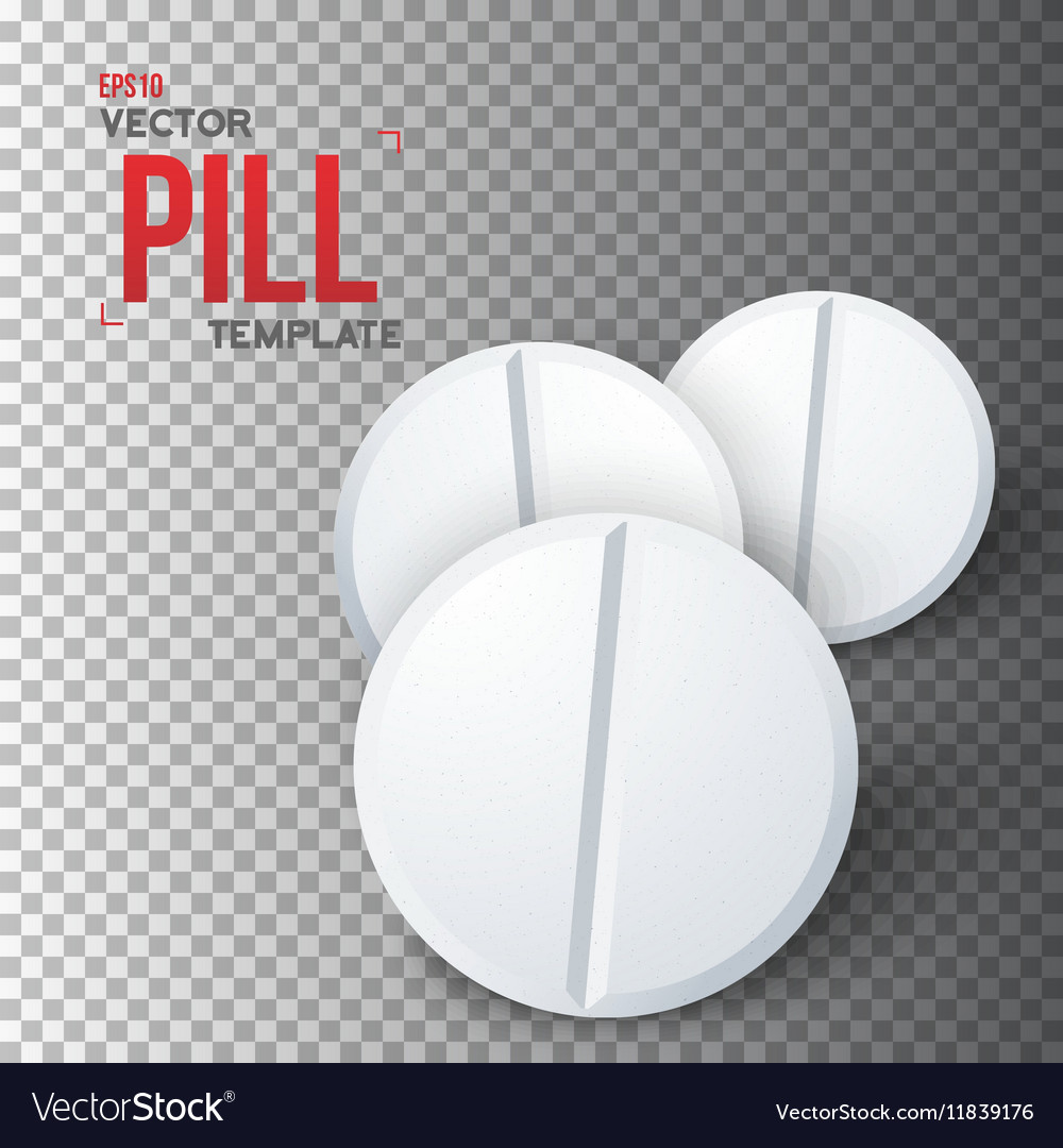 Set of Photorealistic Medicine Pill vector image