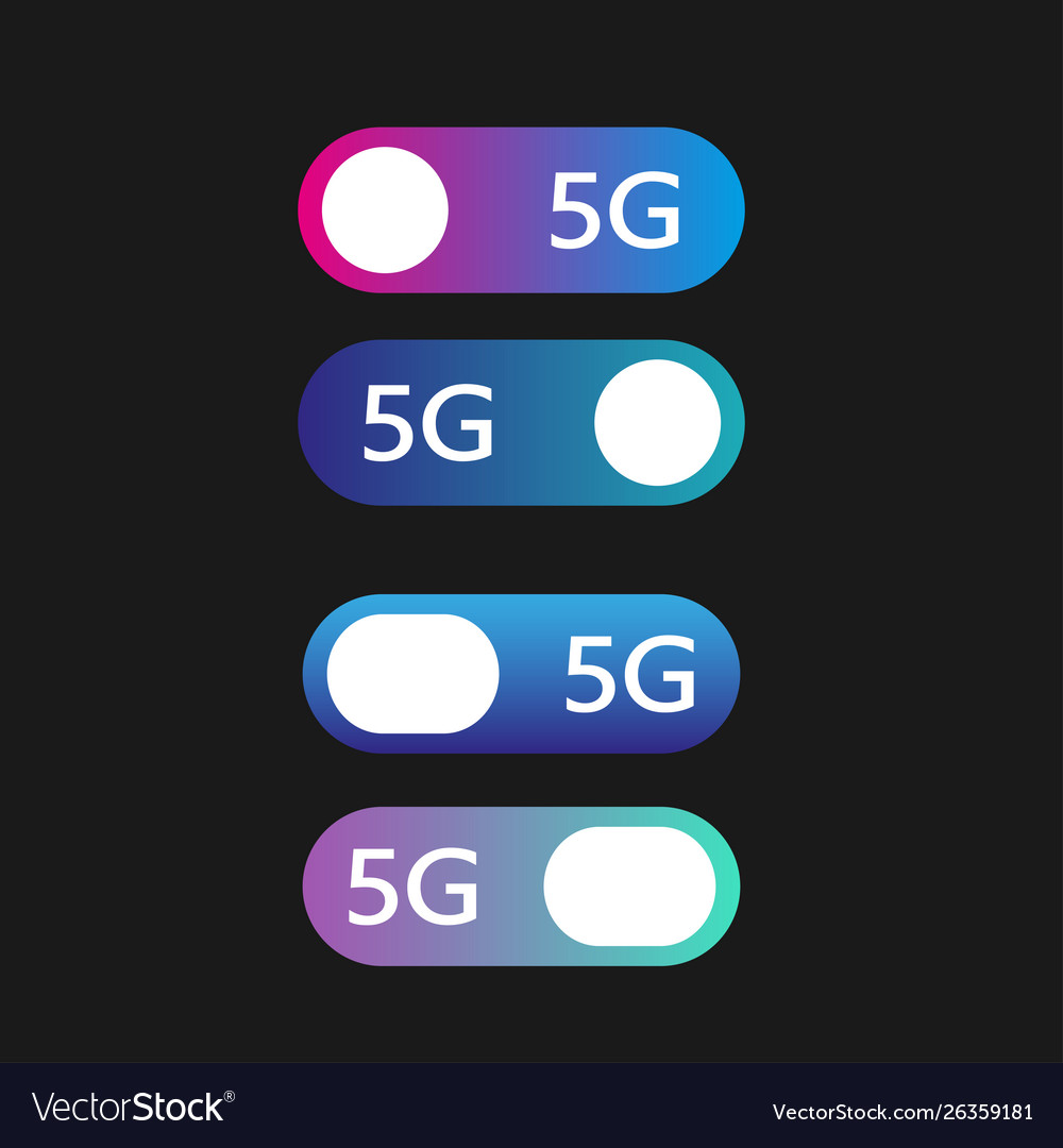 5g networks concept set modern material