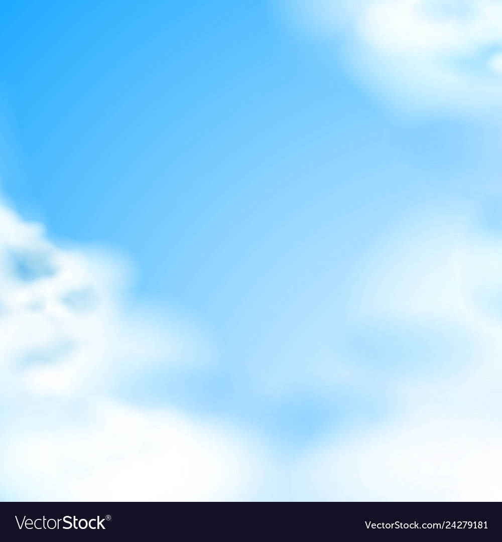Blue sky white clouds natural backdrop