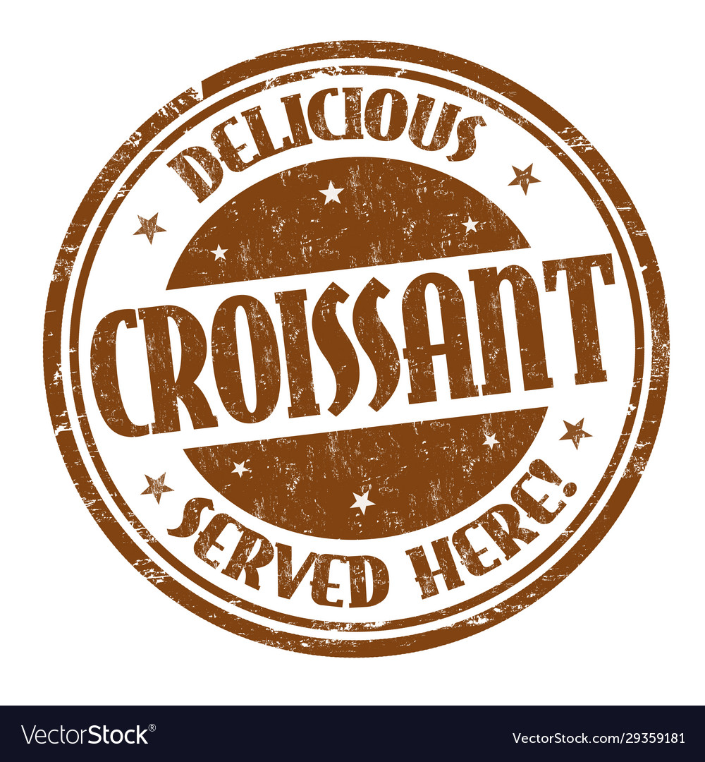 Croissant sign or stamp