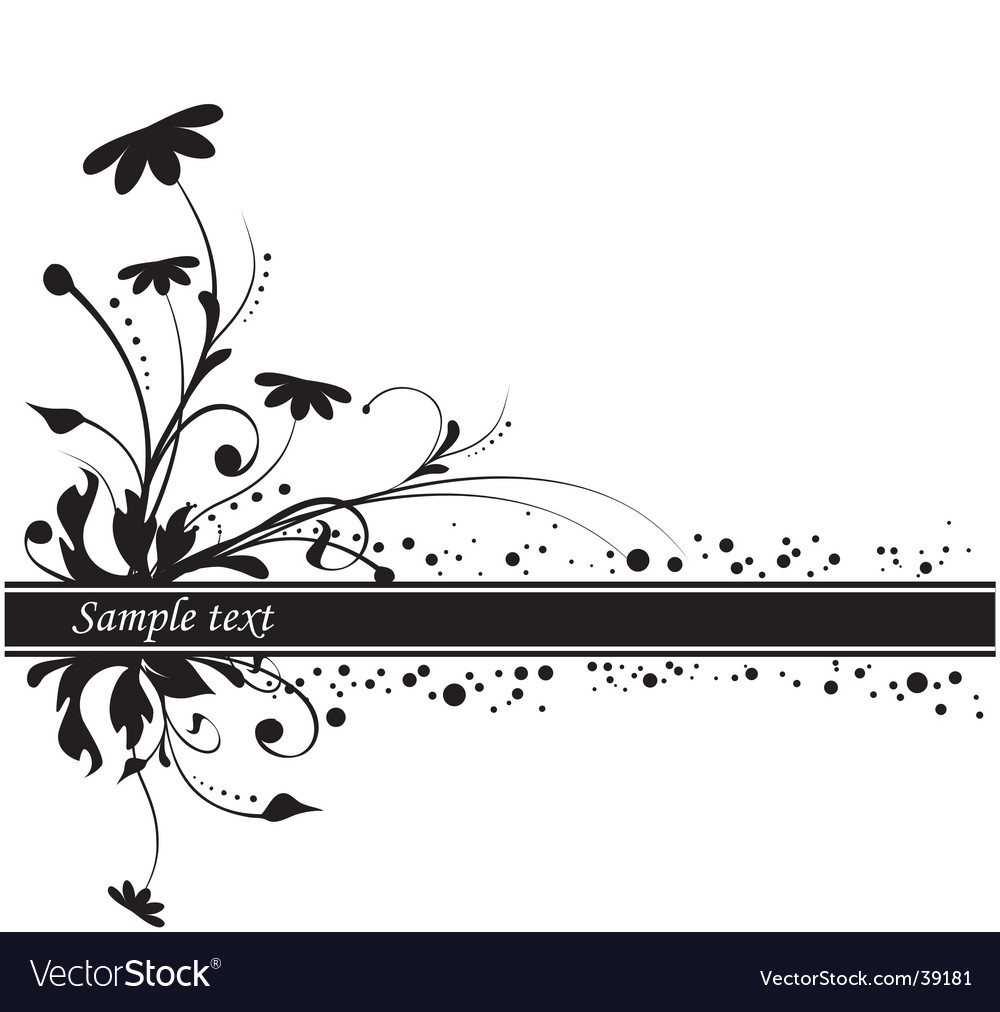 Floral background copy space