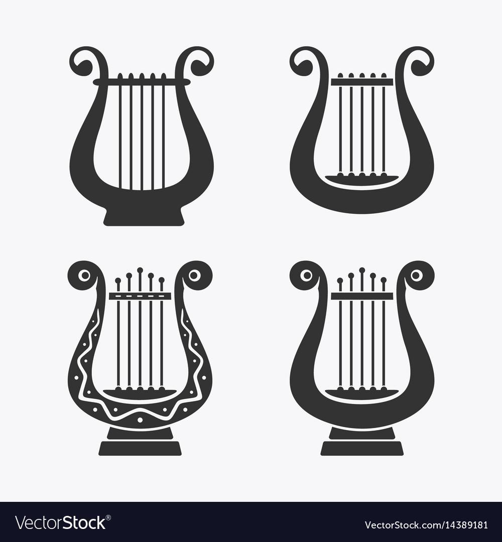 Greek harp symbol