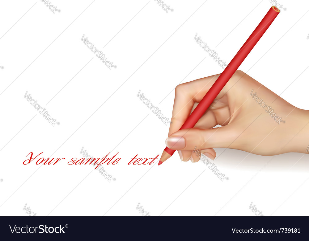 Hand with pen writing on paper