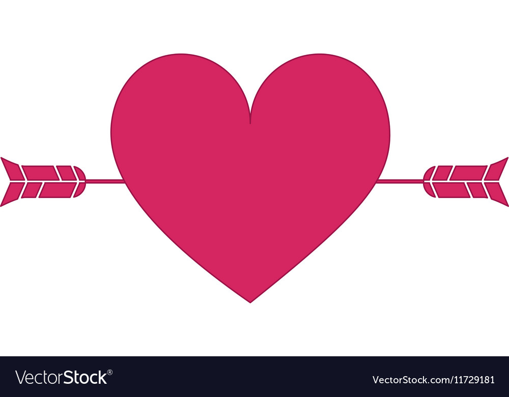 Heart cartoon with arrow icon image